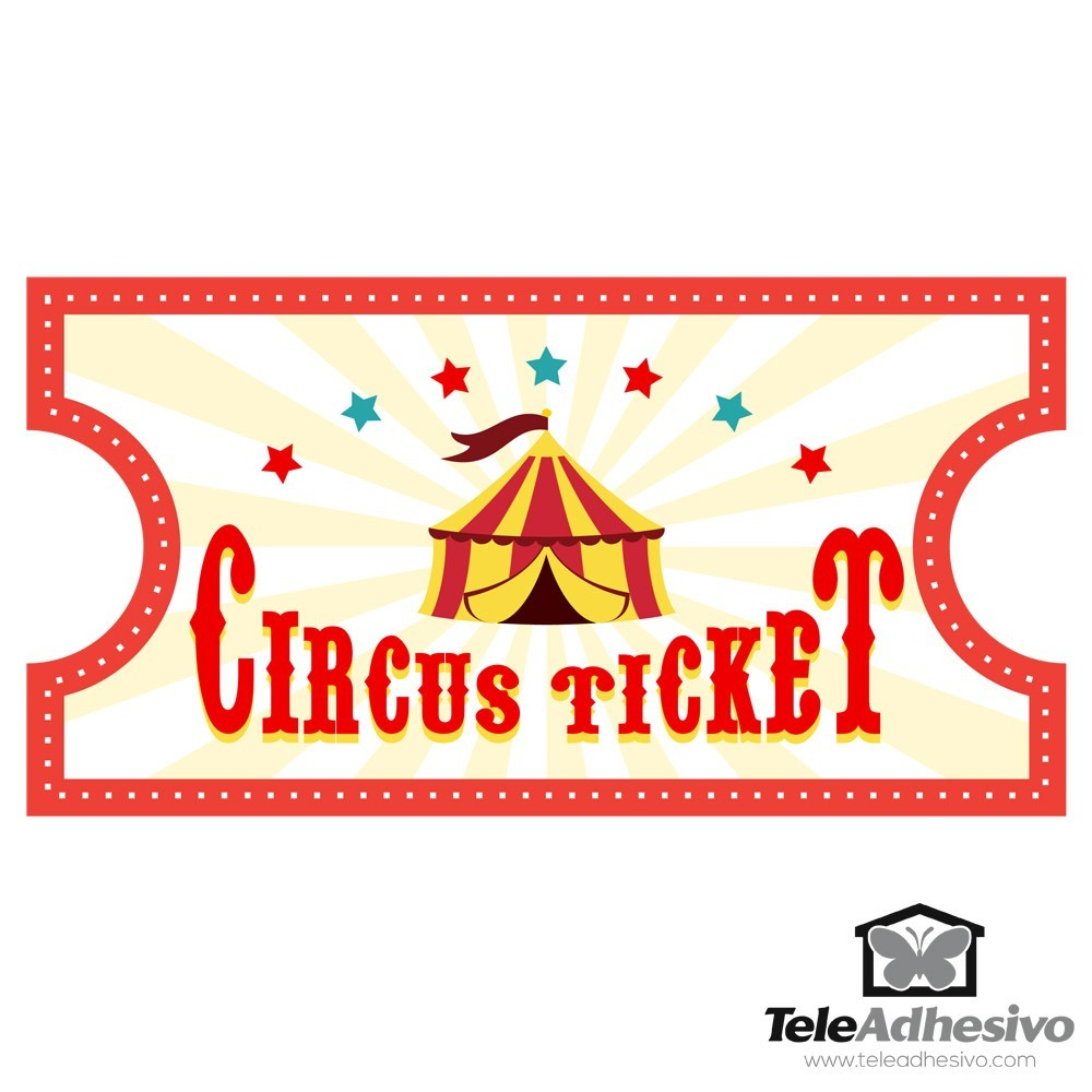 2 sticker template - Stickers For Kids Circus Ticket 4