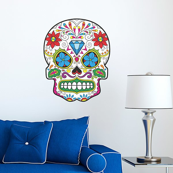 Wall Stickers: Mexican Skull El Zorro