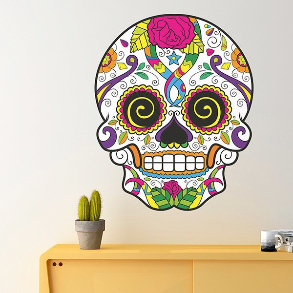 Wall Stickers: Mexican Skull Chucho el Roto
