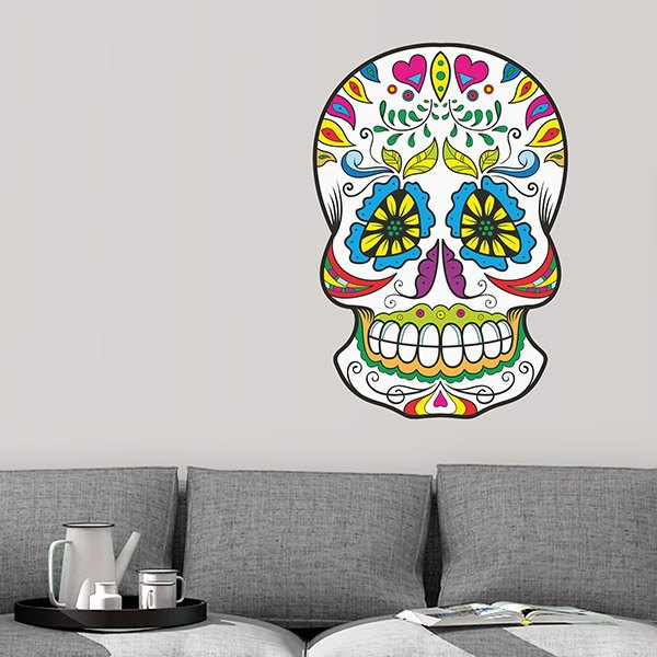 Wall Stickers: Mexican Skull Heraclio Bernal