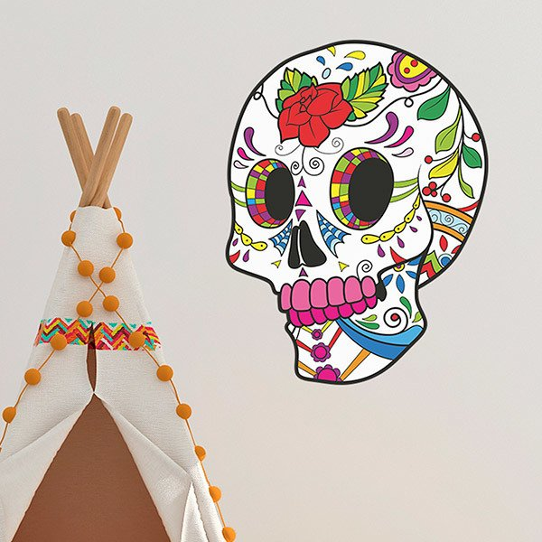 Wall Stickers: Mexican Skull Frida Kahlo