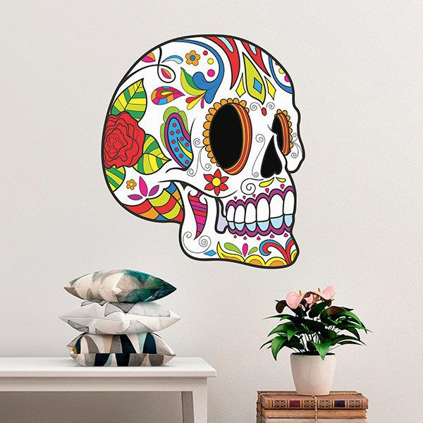 Wall Stickers: Mexican Skull Pancho Villa