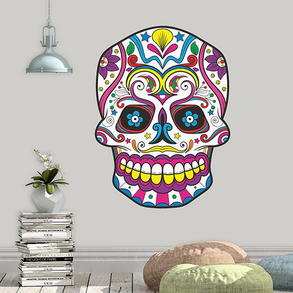 Wall Stickers: Mexican Skull of Chespirito