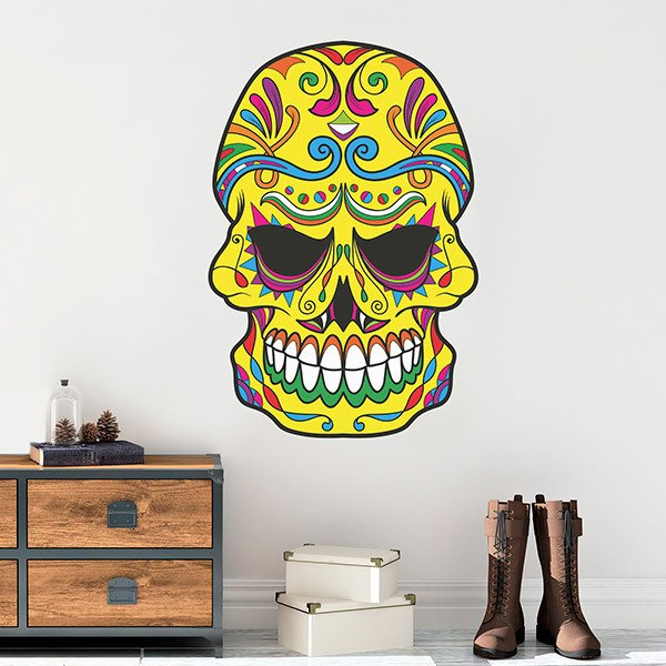 Wall Stickers: Mexican Skull El Santo