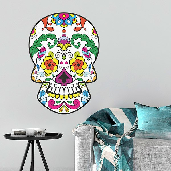 Wall Stickers: Mexican Skull María Félix