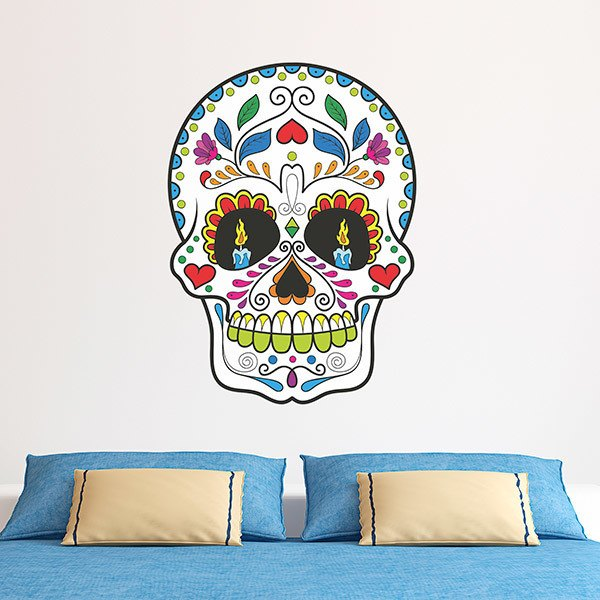 Wall Stickers: Mexican Skull Zapata