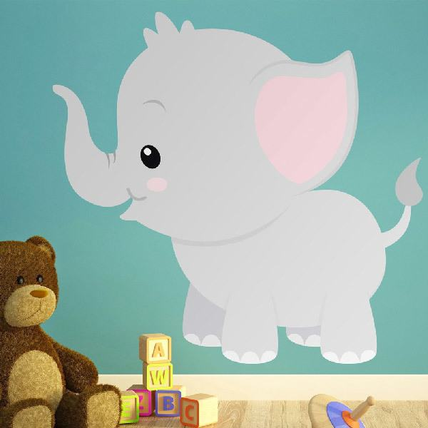 Stickers for Kids: Cheerful elephant