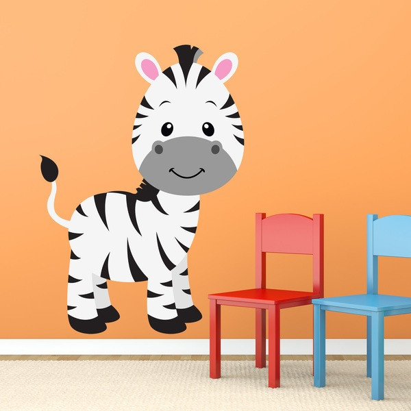 Stickers for Kids: Zebra child