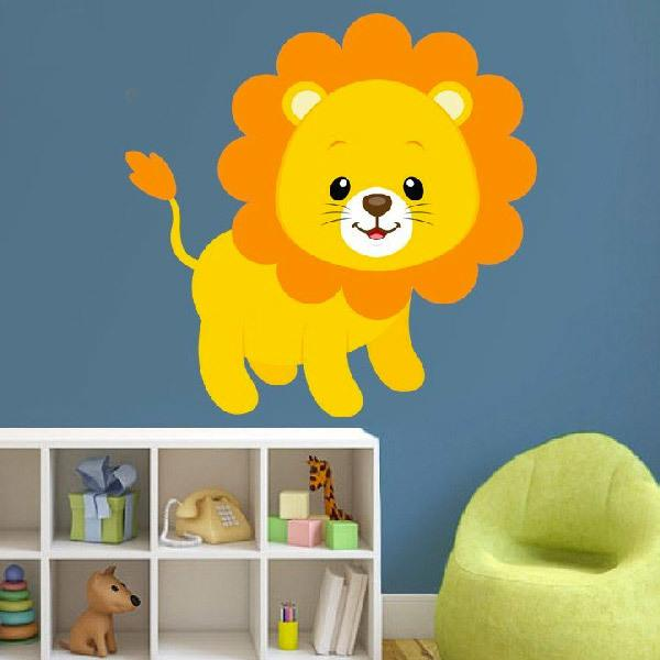 Stickers for Kids: Lion happy