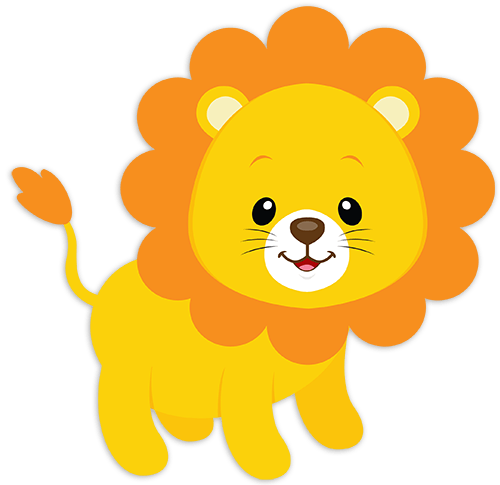 Stickers for Kids Lion Tom