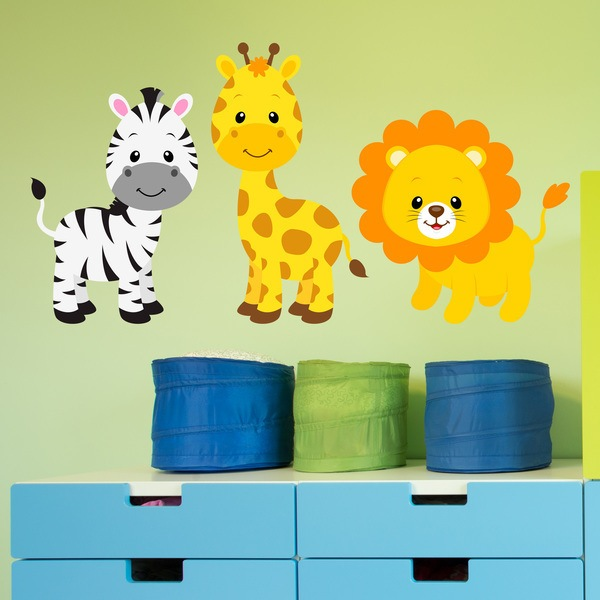 Stickers for Kids: Safari zebra, giraffe and lion