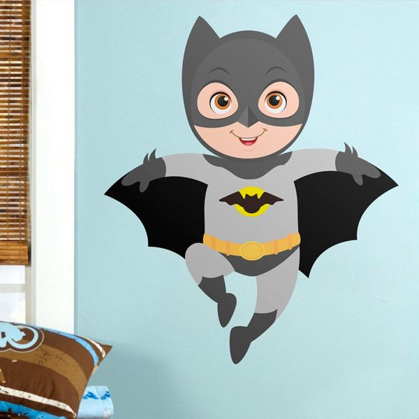 Stickers for Kids: Batman flying