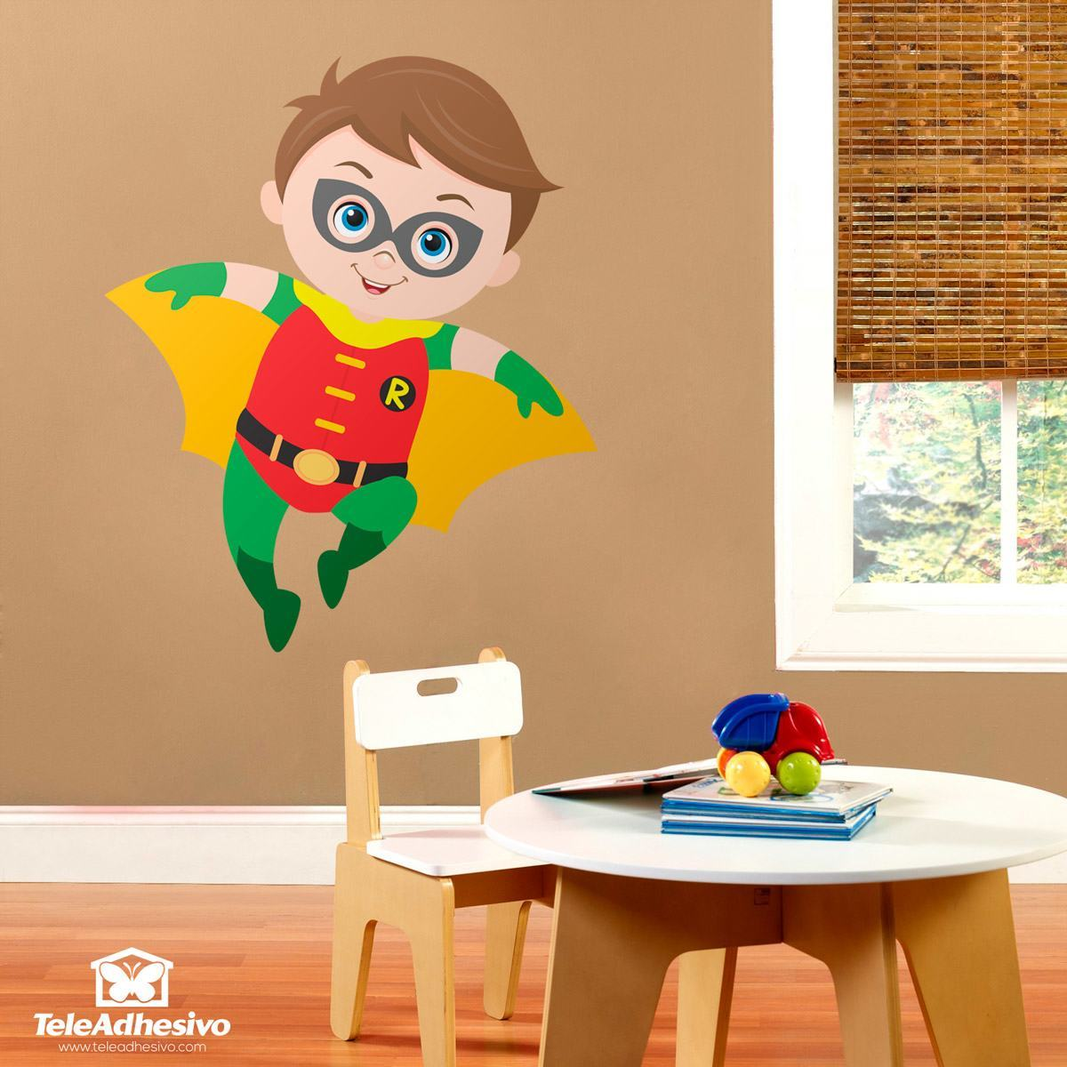 Stickers for Kids: Robin flying