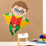 Stickers for Kids: Robin flying 3