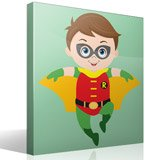Stickers for Kids: Robin flying 4