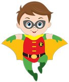 Stickers for Kids: Robin flying 5