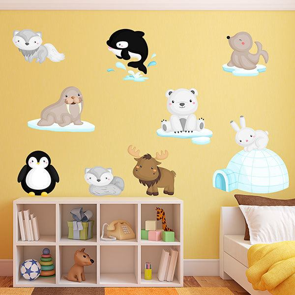 Stickers for Kids: Arctic Animal Kit