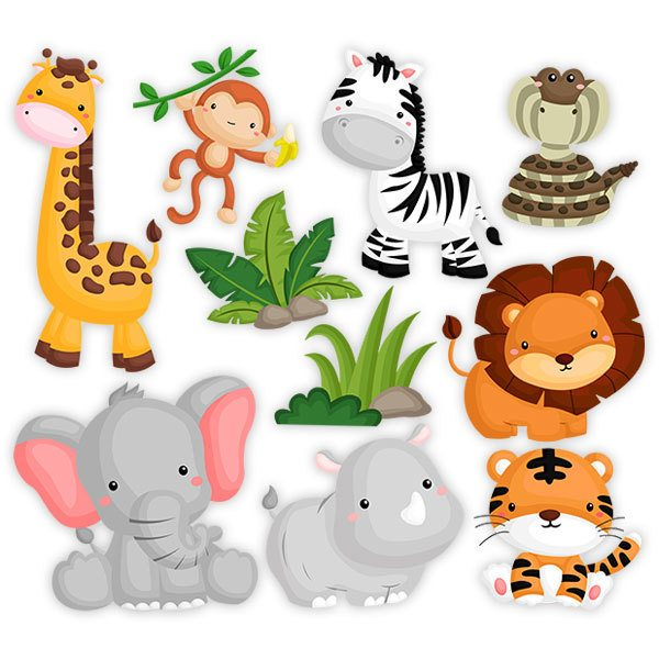 Stickers for Kids: African fauna kit