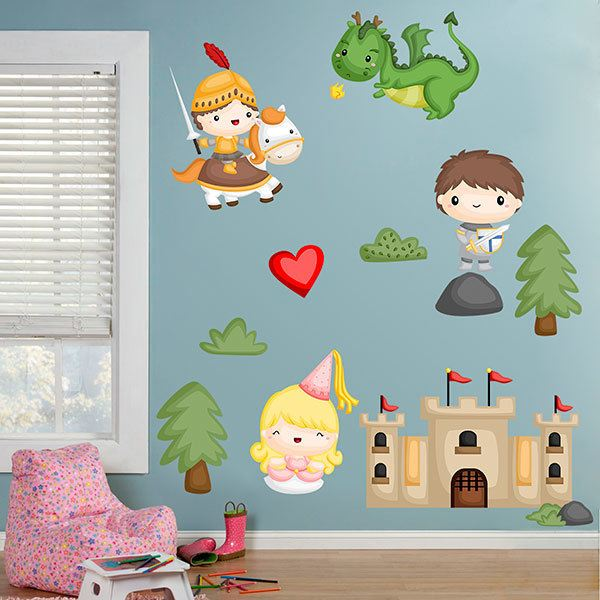 Stickers for Kids: Kit knights and princesses