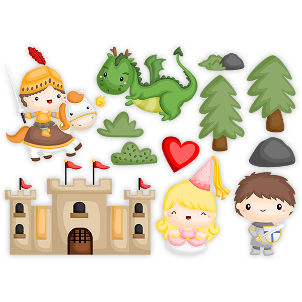 Stickers for Kids: Kit knights and princesses 0