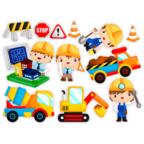 Stickers for Kids: Construction kit
