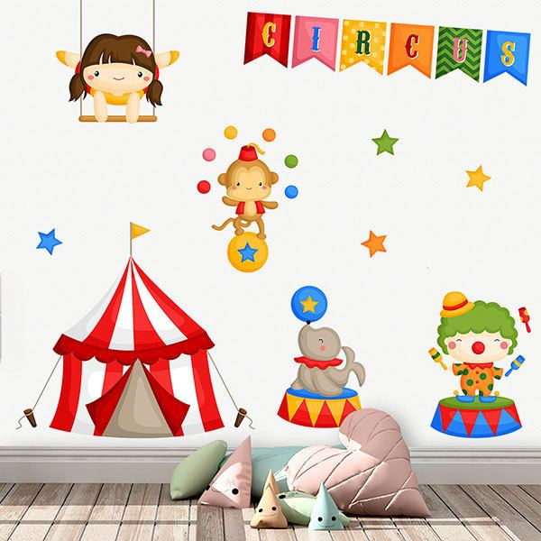 Stickers for Kids: Circus Jugglers Kit