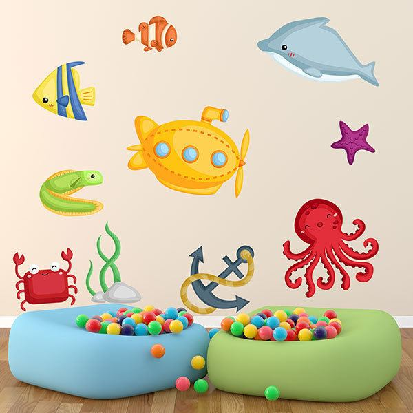 Stickers for Kids: Marine World Travel Kit