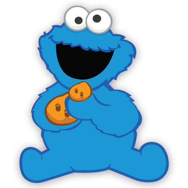 Wall Sticker For Kid The Baby Cookie Monster Muraldecal Com
