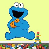 Stickers for Kids: Cookie Monster 3
