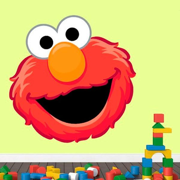 Stickers for Kids: Elmo's head
