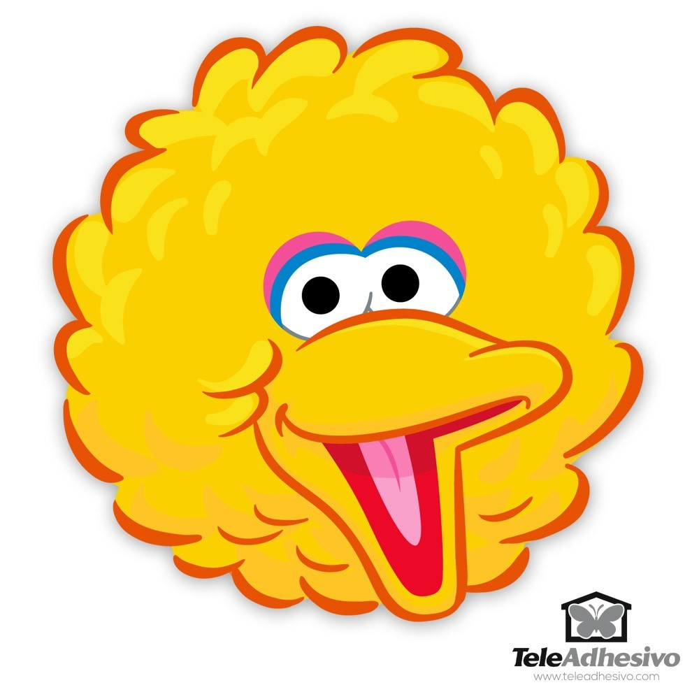 Big Bird Sesame Street Character Face Templates Pictures ...