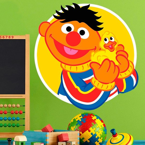 Stickers for Kids: Ernie with yellow duckling