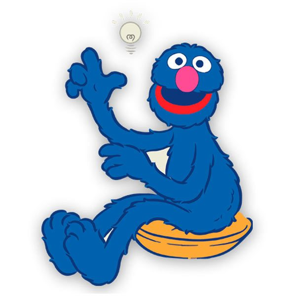 Stickers for Kids: Grover has an idea