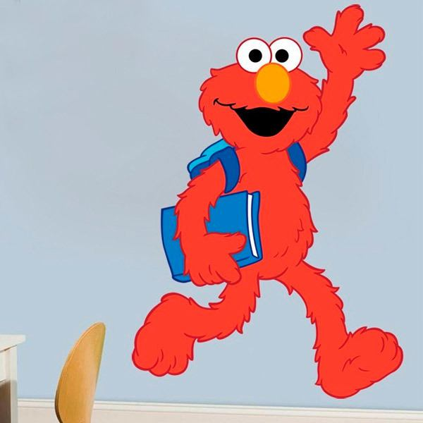 Stickers for Kids: Elmo goes to school