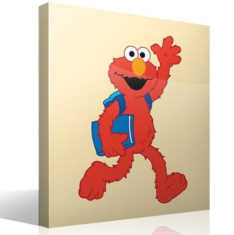 Stickers for kids elmo school for Elmo wall mural