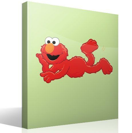 Stickers for kids elmo lying for Elmo wall mural