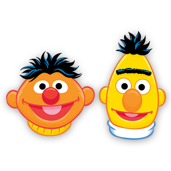 Stickers for Kids: Ernie and Bert