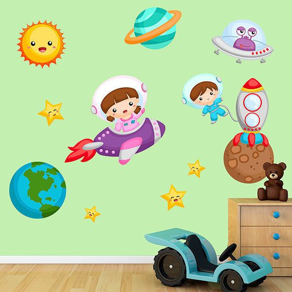 Stickers for Kids: Kit exploring the universe
