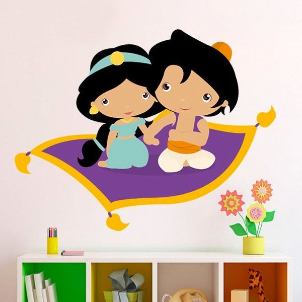 Stickers for Kids: Jasmine and Aladdín