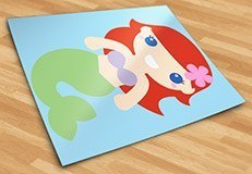 Stickers for Kids: The Little Mermaid 5