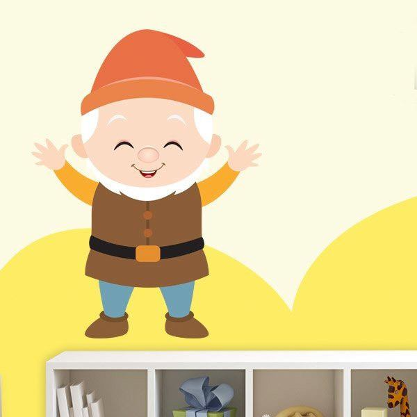 Stickers for Kids: Dwarf Happy