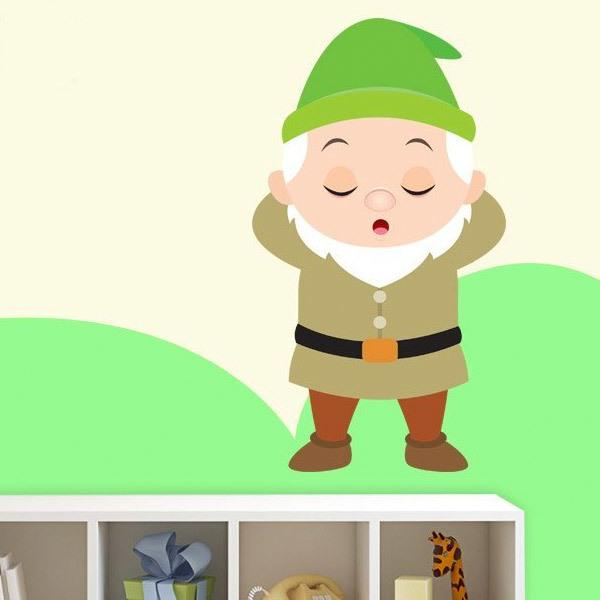 Stickers for Kids: Sleepy Dwarf