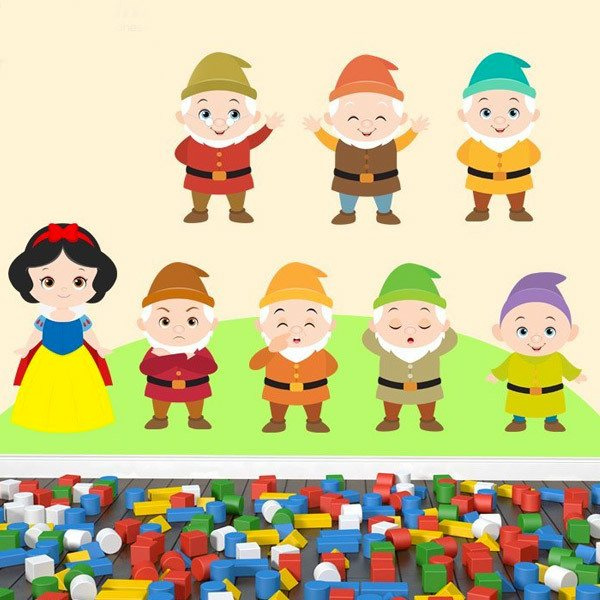 Stickers for Kids: Kit Snow White and Seven Dwarfs