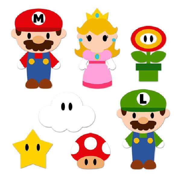 Stickers for Kids Kit Mario Bros