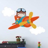 Stickers for Kids: Plane in the clouds 3