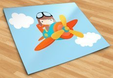 Stickers for Kids: Plane in the clouds 5
