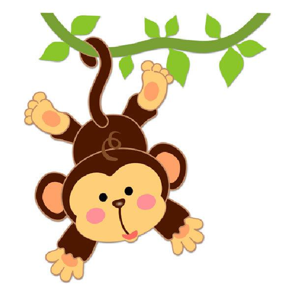 Stickers for Kids: Monkey hung on the vine