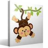 Stickers for Kids: Monkey hung on the vine 4