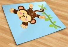 Stickers for Kids: Monkey hung on the vine 5