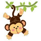 Stickers for Kids: Monkey hung on the vine 6